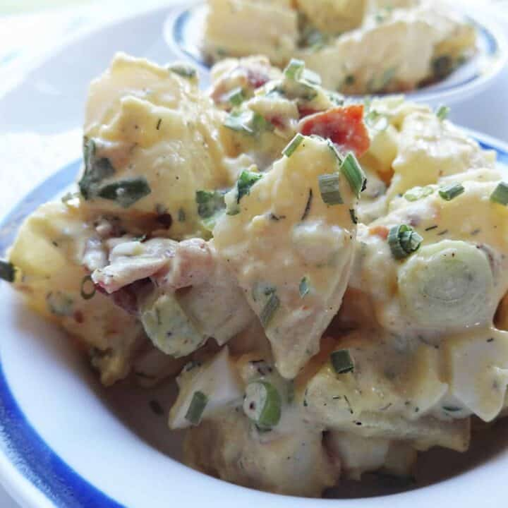 Simple Potato Salad with Bacon