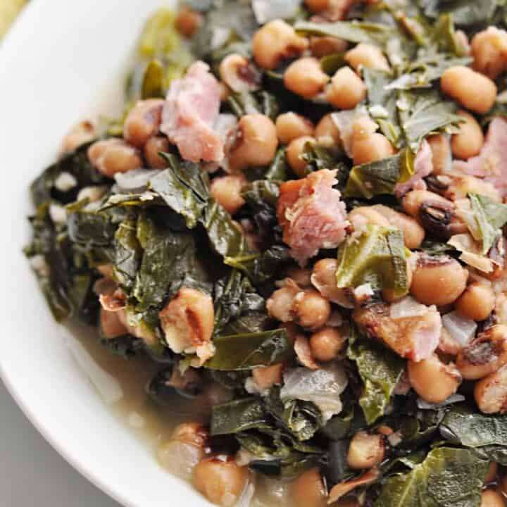 Southern Black Eyed Peas and Collard Greens Recipe