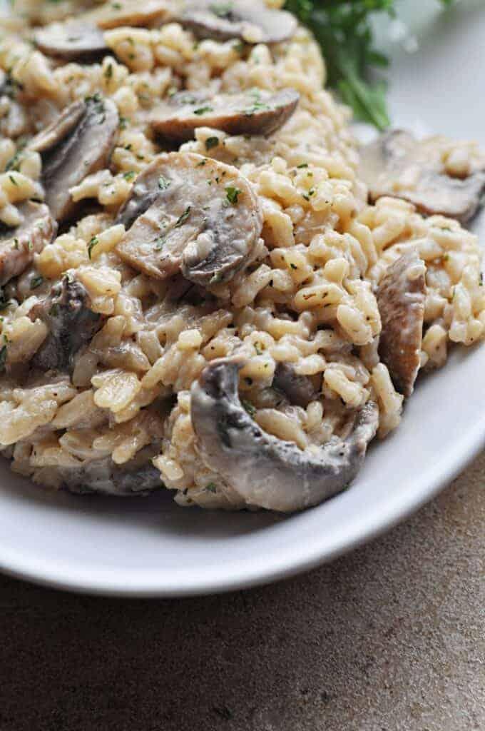 Creamy Mushroom Risotto Recipe