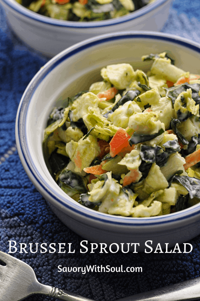 Shaved brussel sprouts salad pin