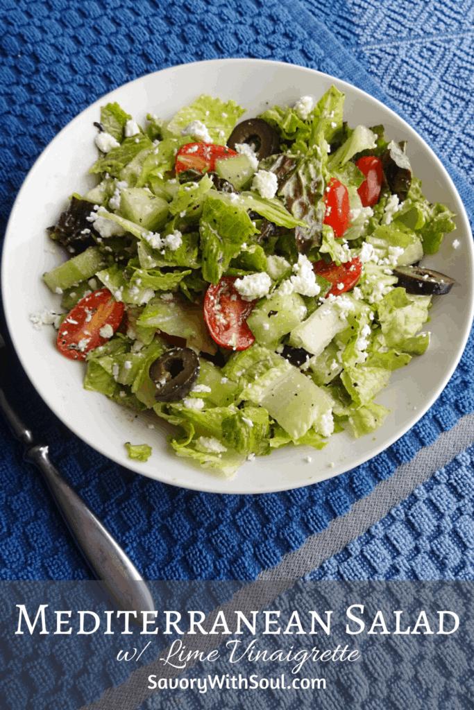 Mediterranean Salad Pinterest image