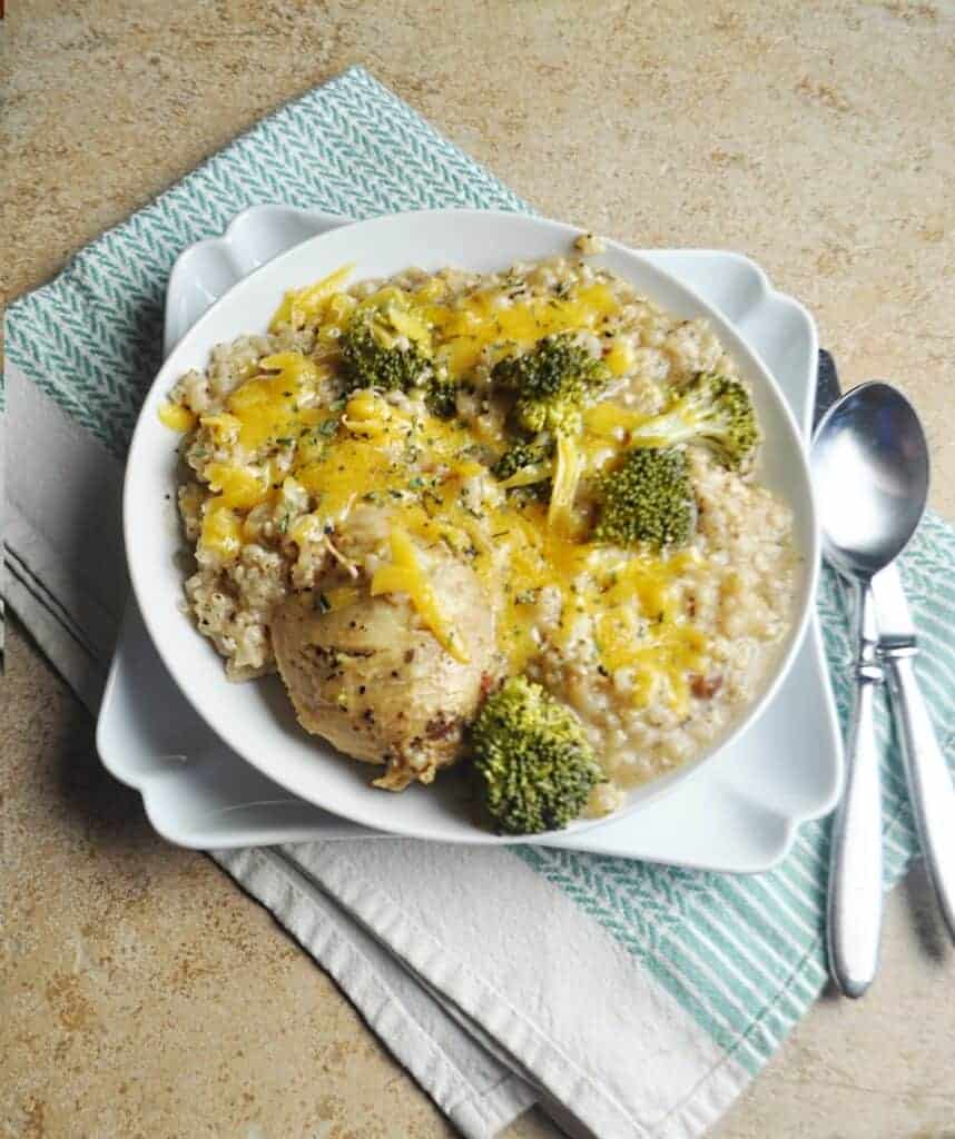 Chicken with broccoli & rice