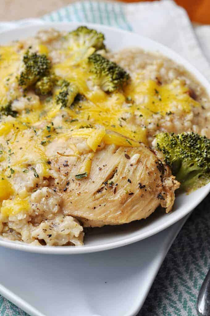 Chicken Crock Pot Recipe with broccoli & rice