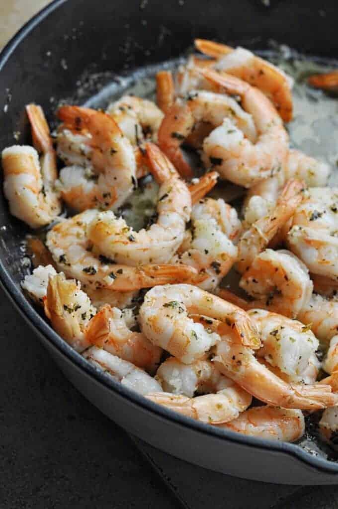 Butter Shrimp cooking