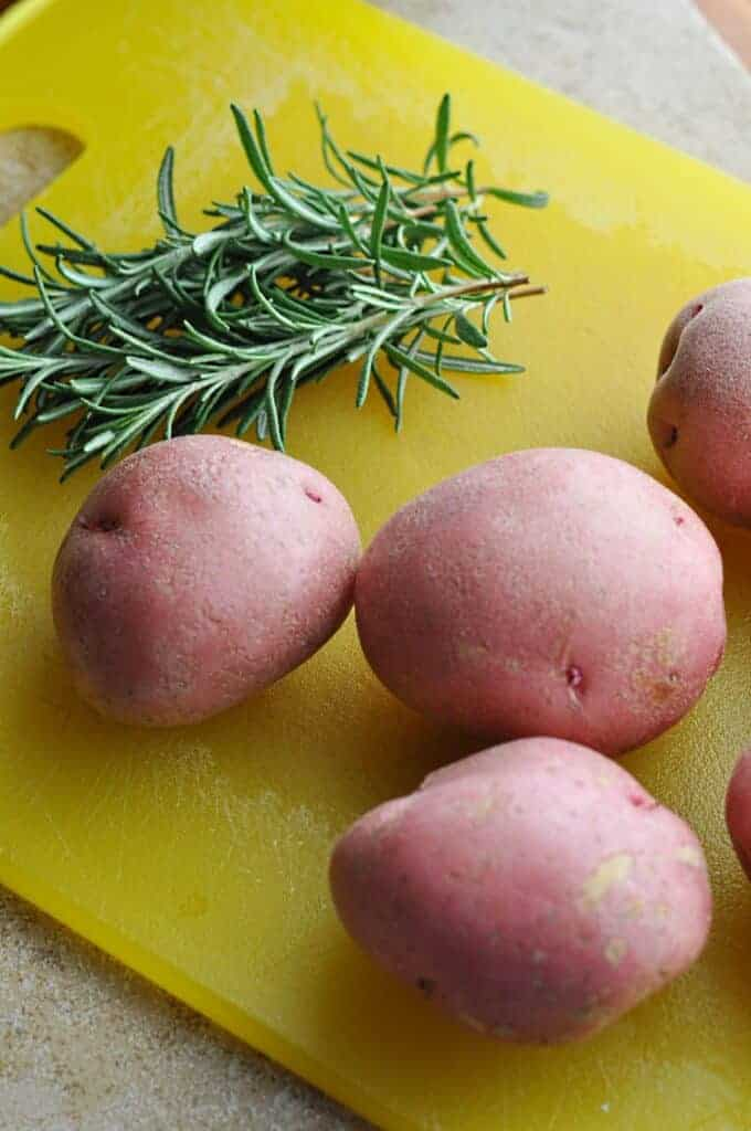 Potatoes and Rosemary for skillet potatoes