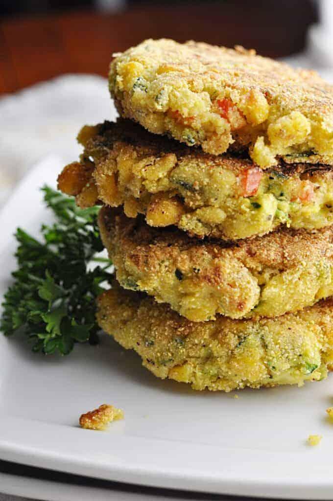 Zucchini Sweetcorn Fritters