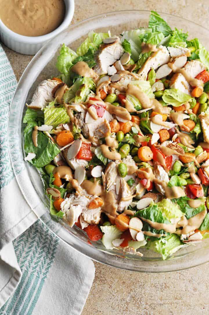 Thai Chicken Salad copycat recipe from Panera Bread with peanut dressing