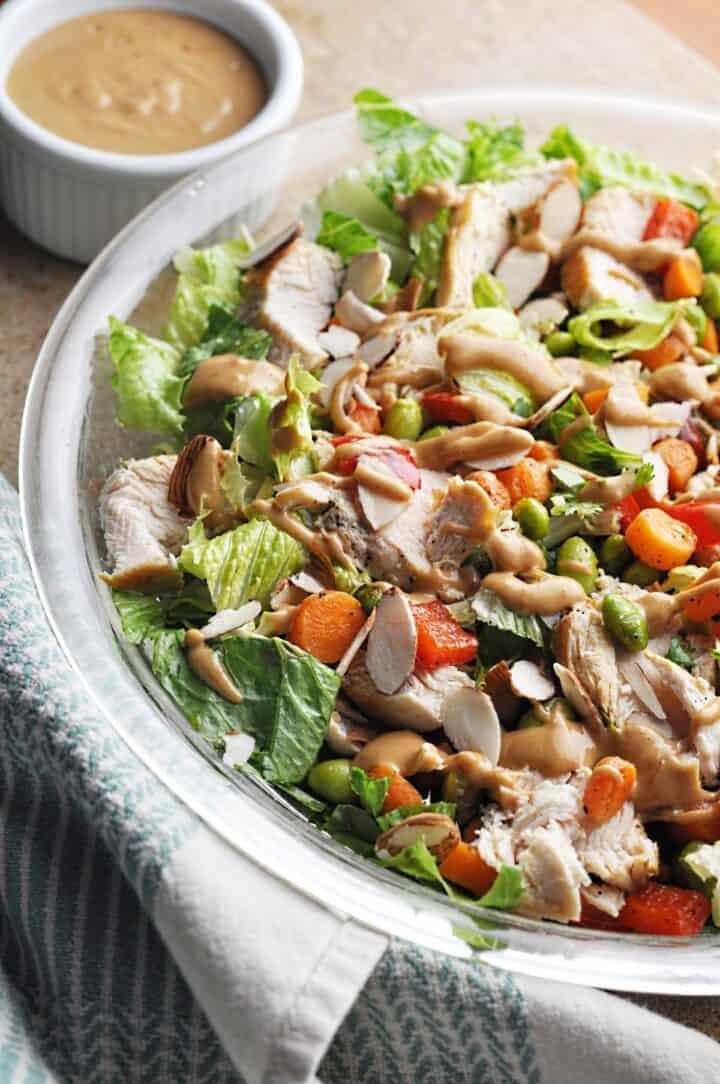 Chicken Thai Salad Closeup