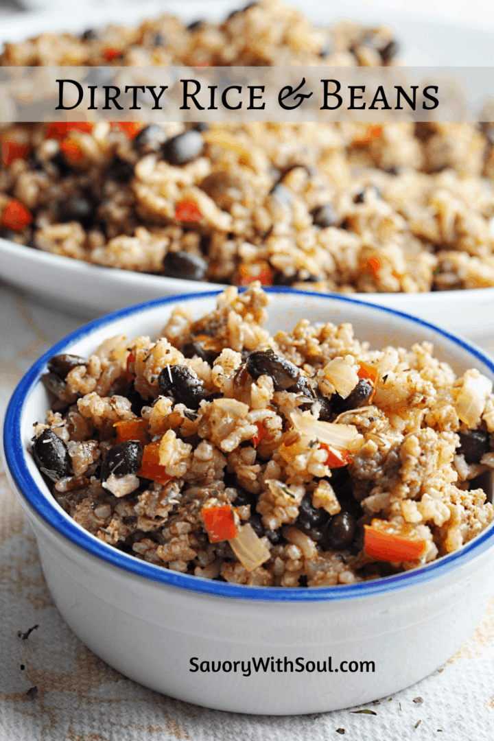 Dirty Rice and beans Recipe Pinterest Pin
