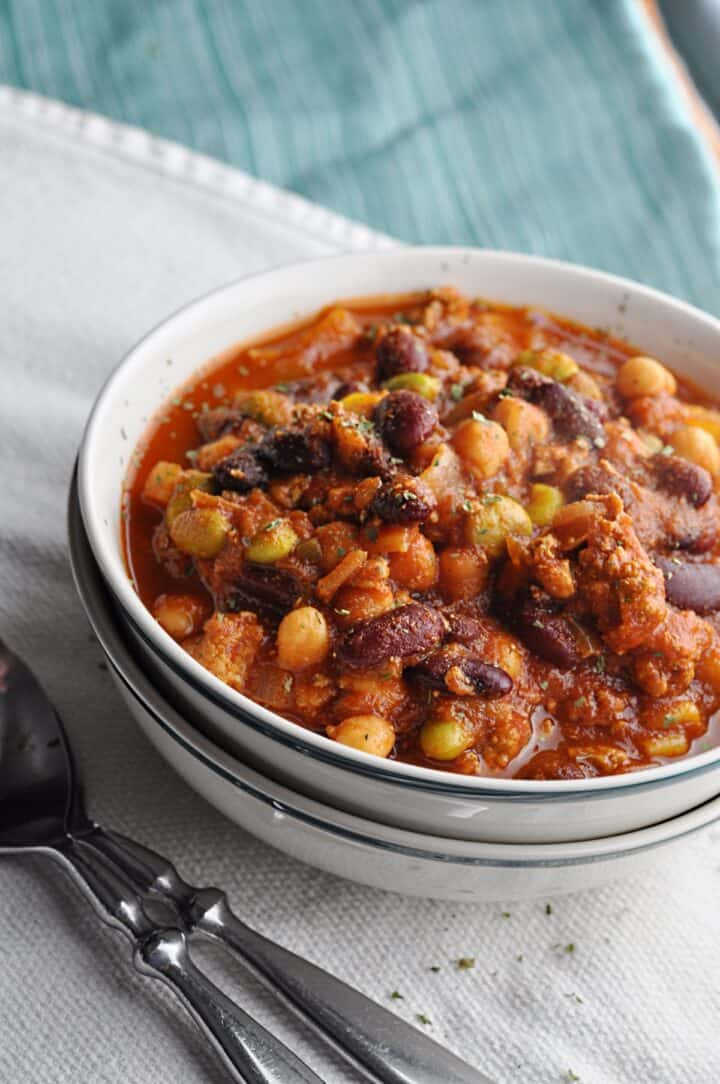 Turkey Chili Panera Bread copycat recipe in bowl
