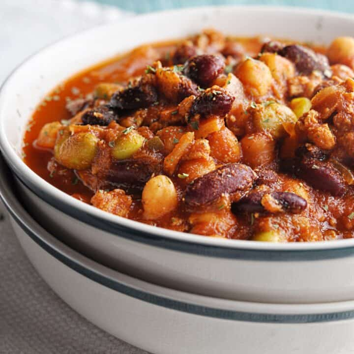 Panera Turkey Chili Recipe copycat in bowl