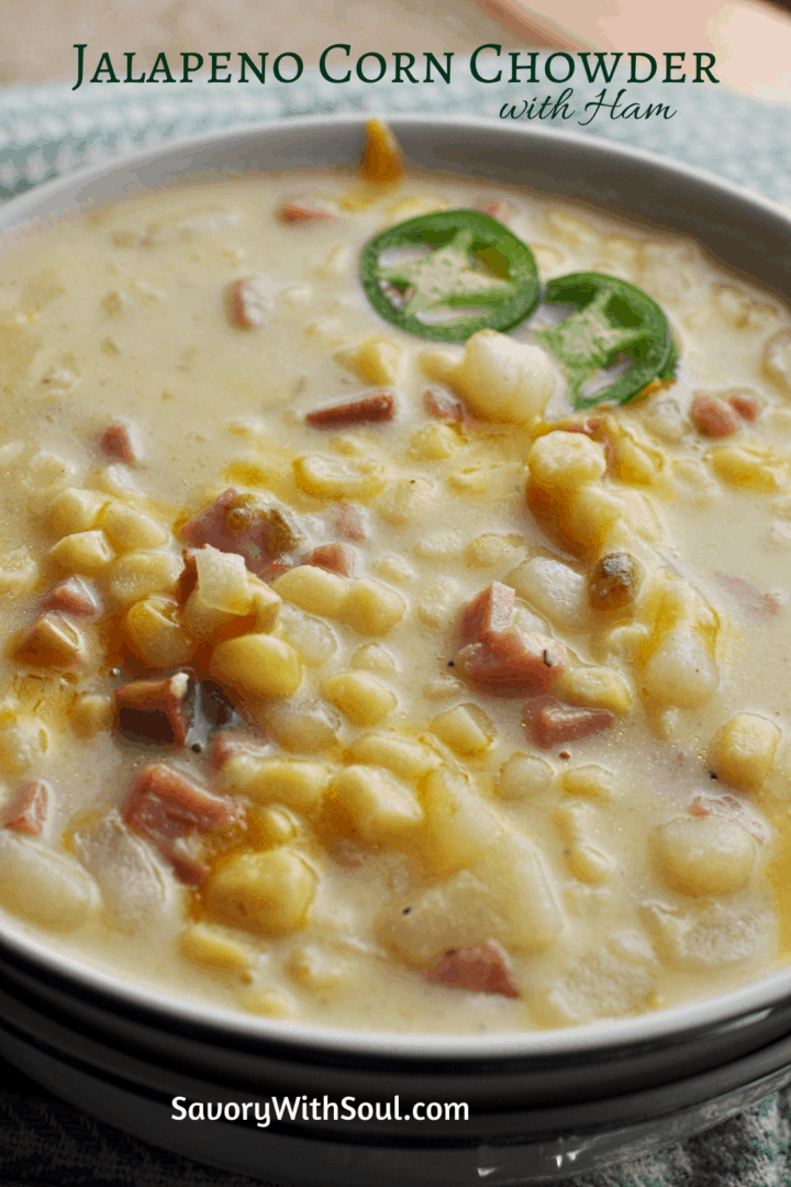 Pinnable corn chowder image