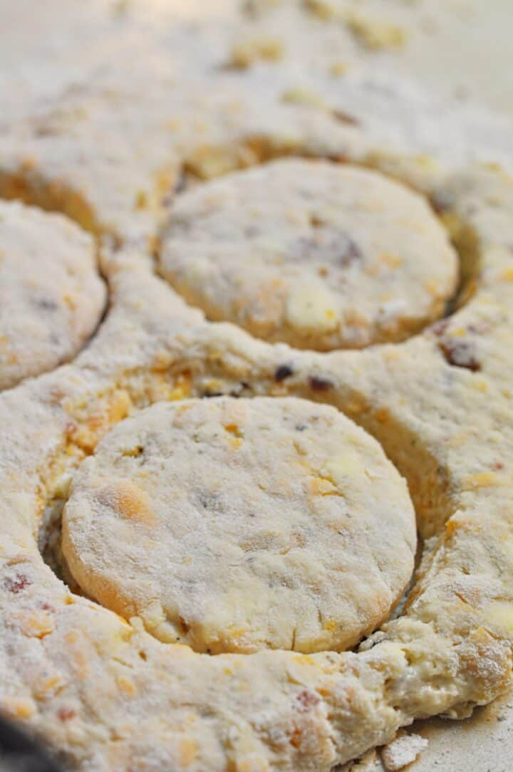 Cut out bacon ranch biscuits