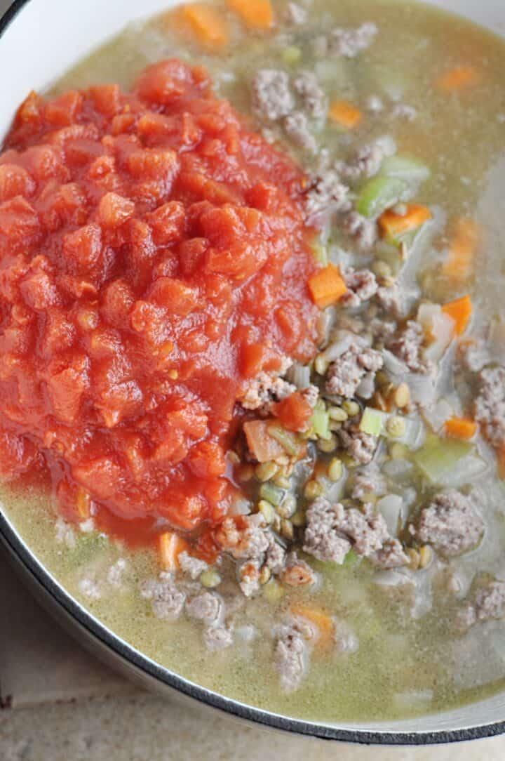 Lentil Soup Cooking